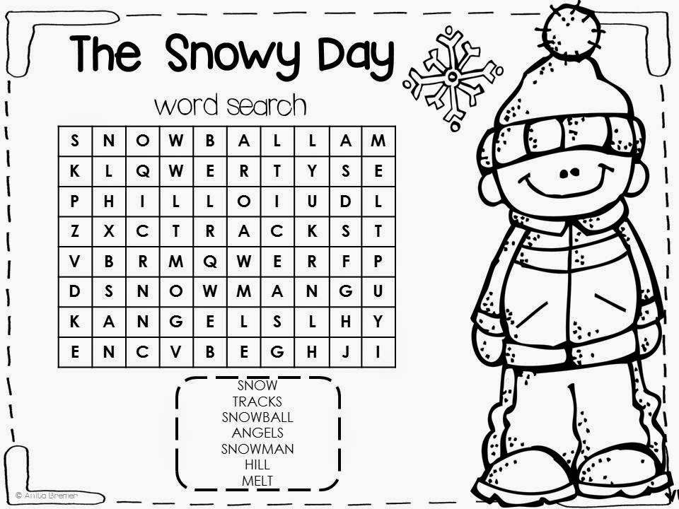 It is an image of Effortless The Snowy Day Printable