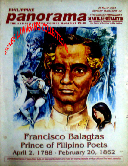 Portrait of Francisco Balagtas on the cover of