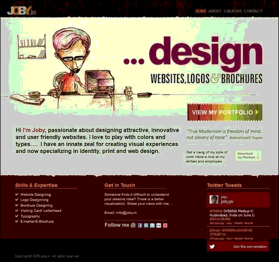 Joby - Website design using drawings and illustration