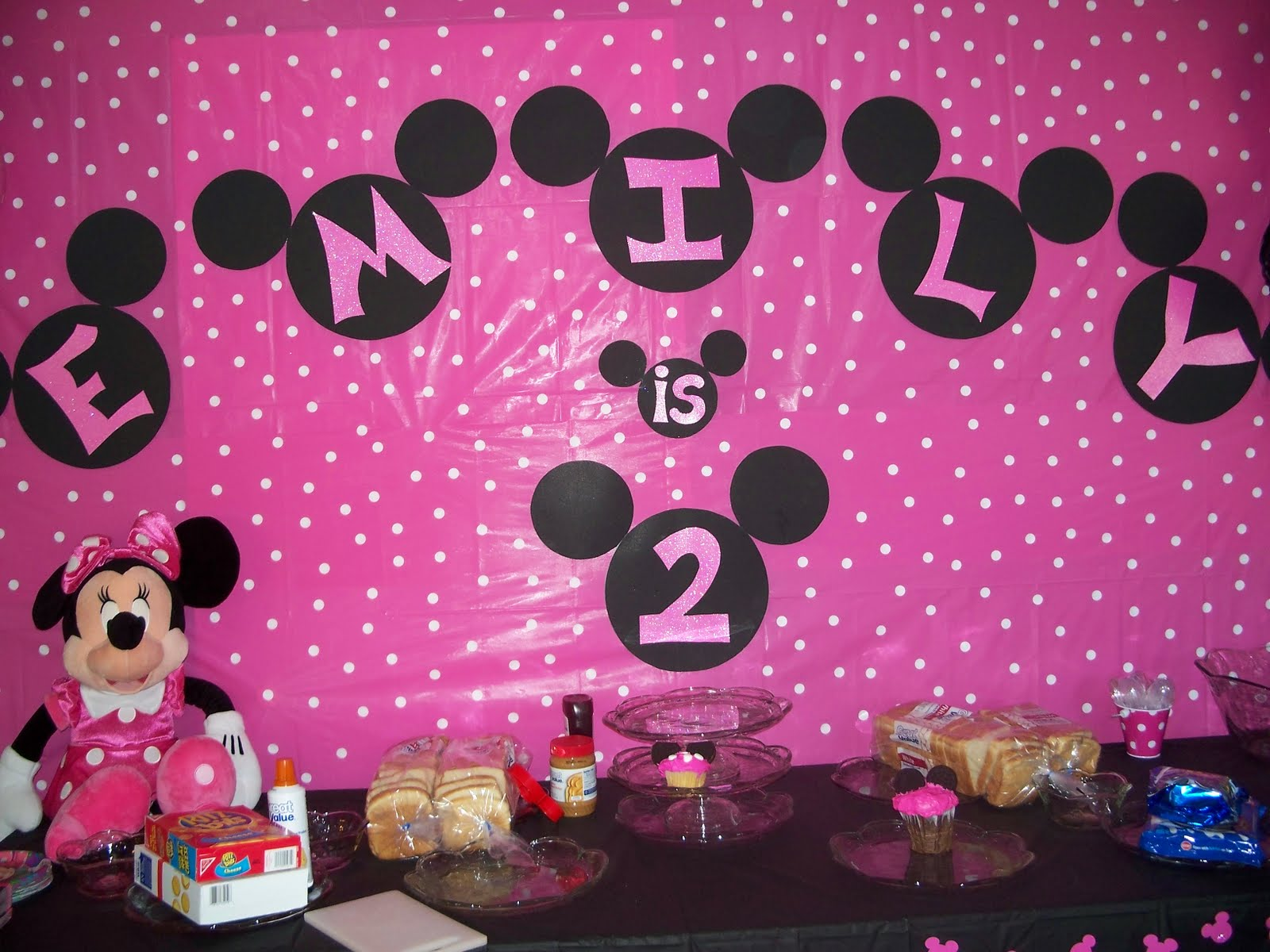 Minnie Mouse Themed Birthday 2 For