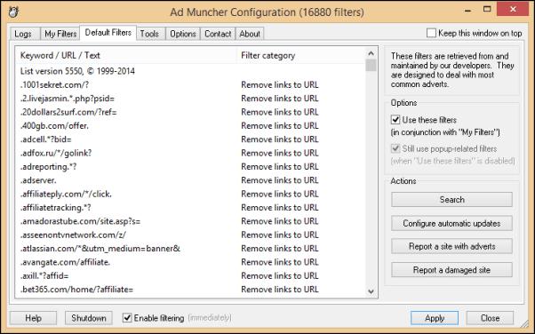 برنامج Muncher لمنع ظهور الاعلانات AdMuncher2.png
