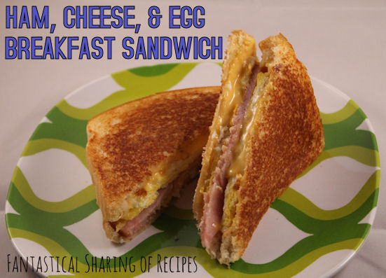 Ham, Cheese, & Egg Breakfast Sandwich | The perfect way to start your morning #recipe