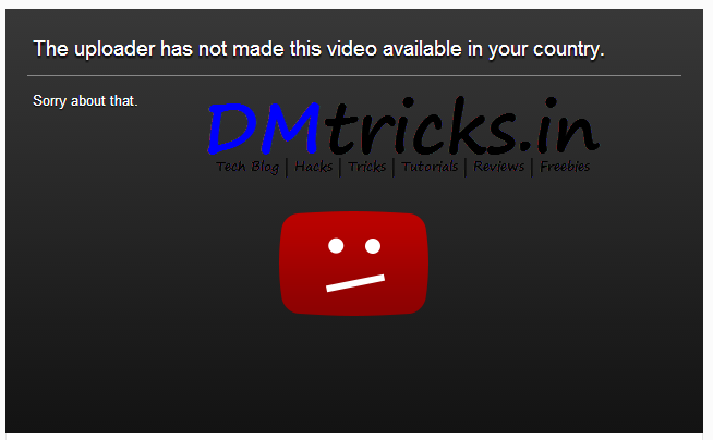 How To Remove Country Restriction on Youtube Videos