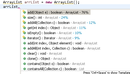Arraylist Methods in Java