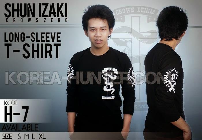 KOREA-HUNTER.com jual murah T-Shirt Crows Zero - Izaki Long Sleeve | kaos crows zero tfoa | kemeja national geographic | tas denim korean style blazer