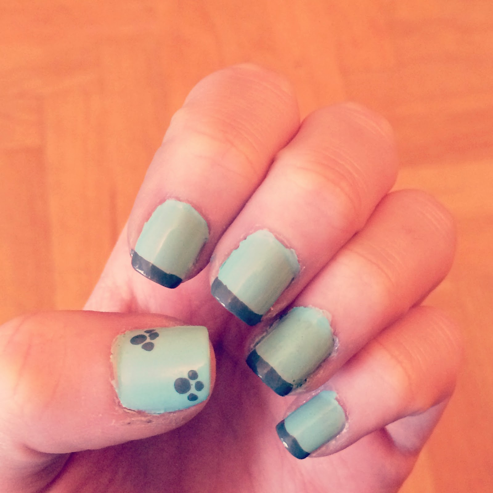 Sparks And Colours: French Paw Print Nails.