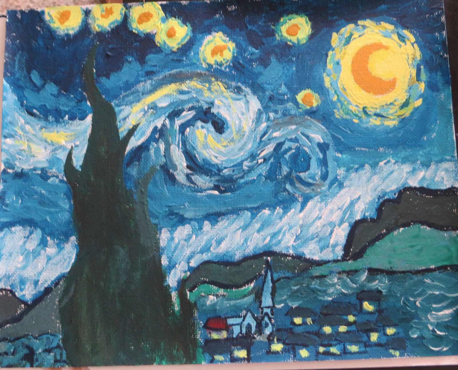 Moma Vincent Van Gogh The Starry Night 1889 - HD1600×1294