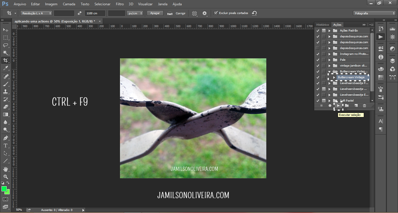 Como usar actions no photoshop - Jamilson Oliveira Blog