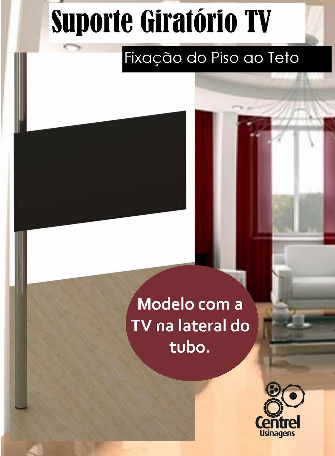ao nosso Blog!: Suporte Giratório TV Piso ao Teto Com TV Lateral #A76424 1174x1600