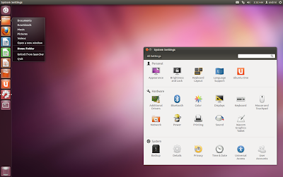Ubuntu 12.04 Precise Pangolin beta 1 screenshot