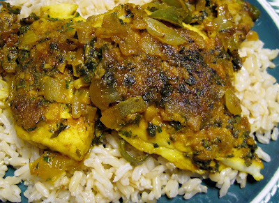 Indian Fish in Spicy Mint Sauce Machhi Ka Salan