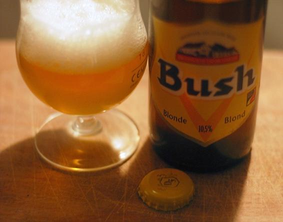 Бельгийское светлое пиво Bush Blond