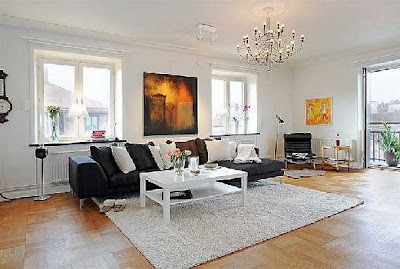 Contemporary Style Home Design Living Room