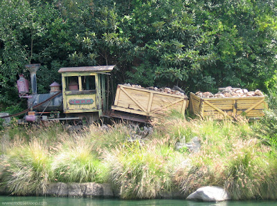 Mine Train Nature's Wonderland Tribute Disneyland Rivers wreck