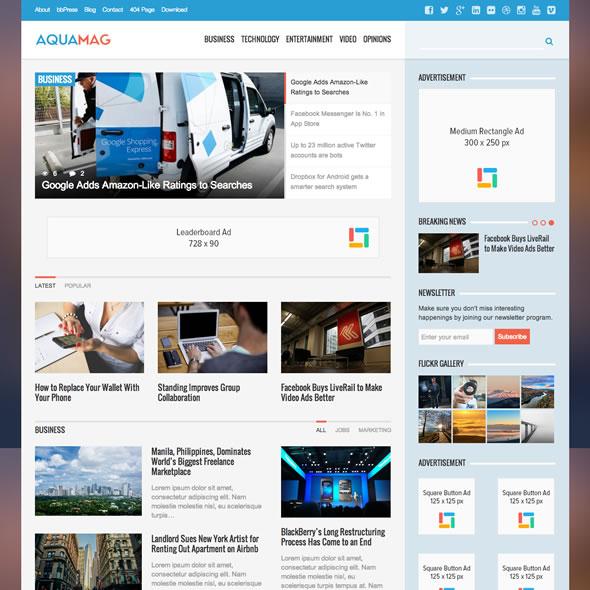 Download Free Responsive Wordpress Themes Online!: Bluemag Magazine ...