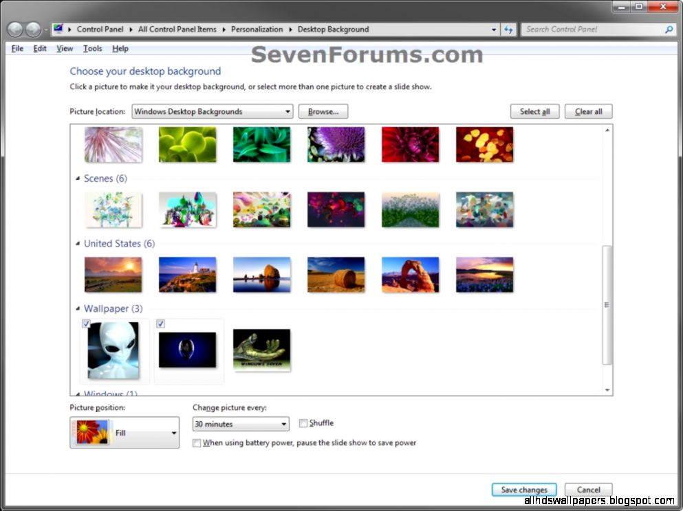 Desktop Slideshow   Windows 7 Help Forums