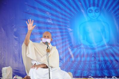 Acharya Mahashraman at Nirmali Bihar