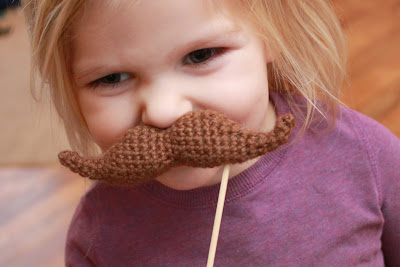 free crochet patterns:  crochet mustache pattern