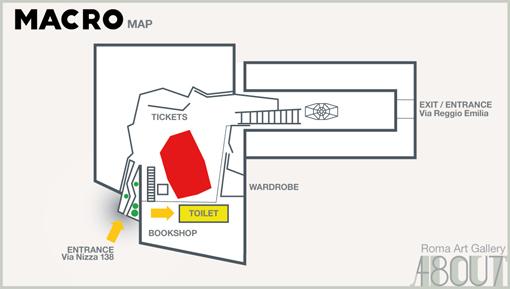 MACRO MAP - TOILET / MAPPA DEL MACRO - BAGNO