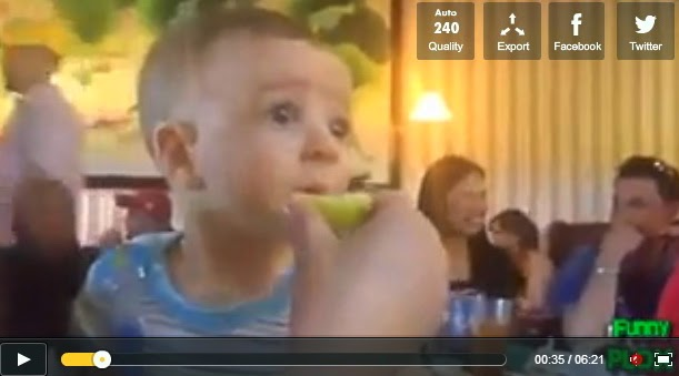 http://funkidos.com/videos-collection/funny-videos/kids-1st-reaction
