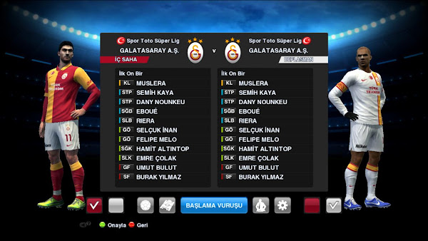 PES 2013 Galatasaray 2012/13 Kits by Fatih Cesur