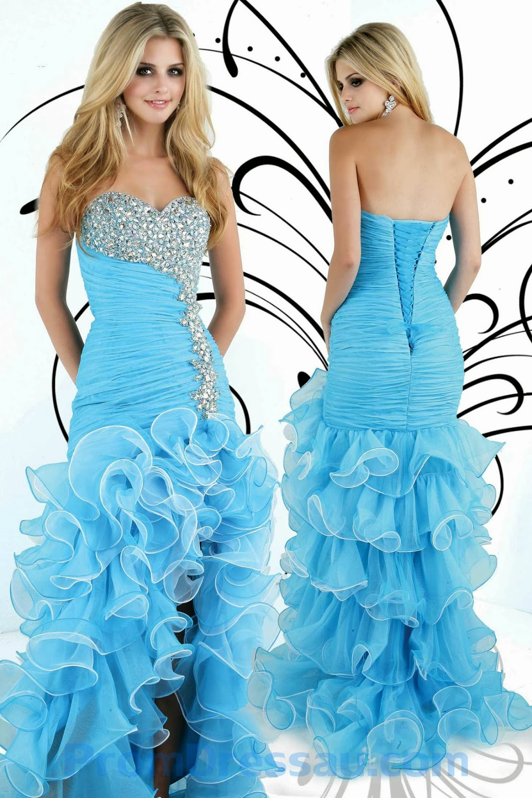 LilacFashion Mermaid Style Sweetheart Beaded Ruched