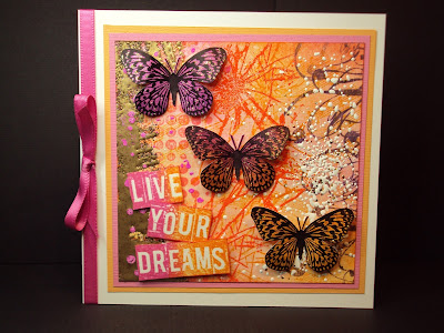 grunge flourish butterfly live dreams visible image stamps