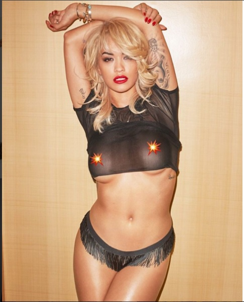 Rita Ora See more photos from Pop star's Lui magazine cover
