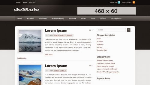 deStyle - Free Blogger Template