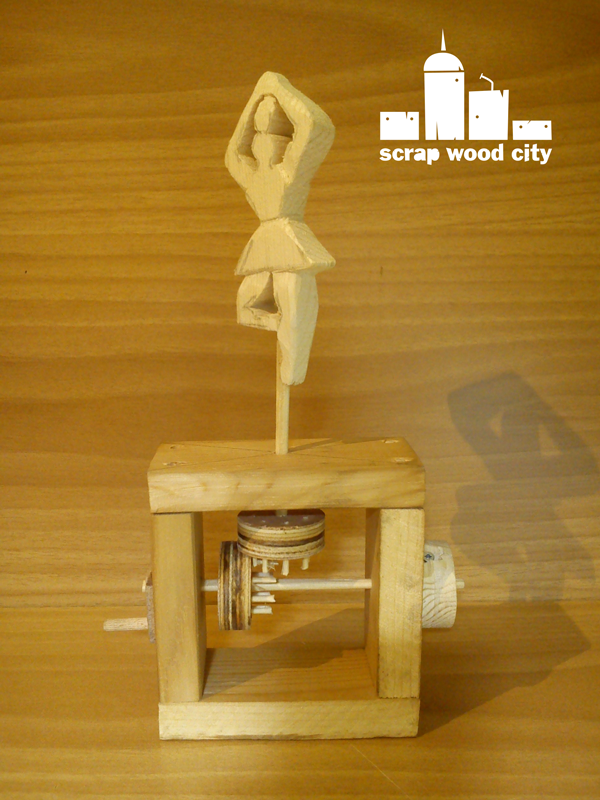 scrap wood city: My wooden ballerina toy