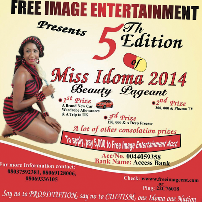MISS IDOMA 2014