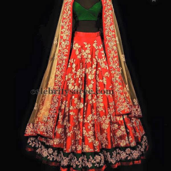 Floral Huge Work Lehenga