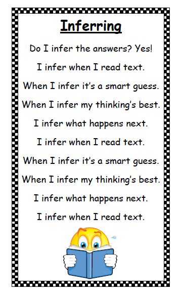 Jennifer's Teaching Tools: Inferring With Poetry