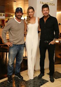 Andrea Bursten reinauguró su restaurant Francesca. Marcelo Tinelli y Adolfo Cambiaso.