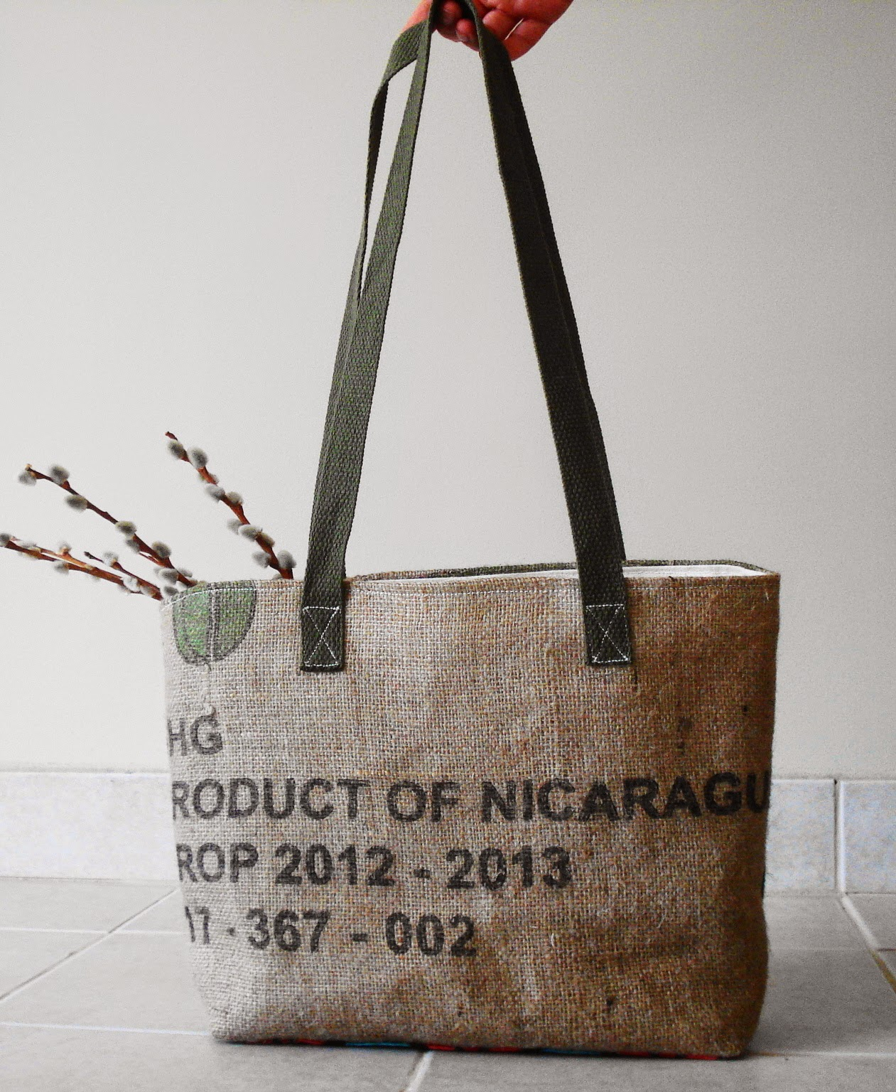 Nicaragua Green tote - Lina and Vi - Grounds Collection