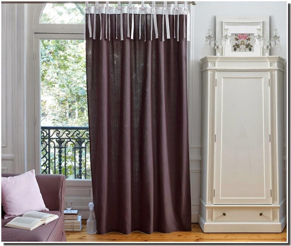 nassima home rideau bicolore effet lin ledya gris blanc chez la redoute france 2014. Black Bedroom Furniture Sets. Home Design Ideas