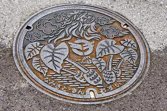 Kin Town, manhole cover, sewerage
