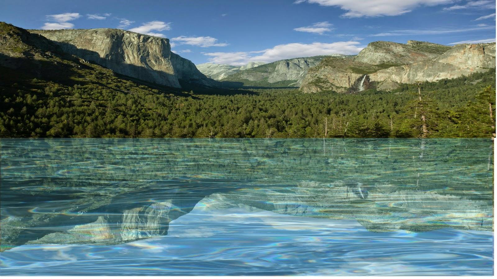 Efeito Reflexo em agua - Pixlr