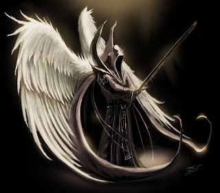 angel wallpaper anime wings dark white beatiful angels demon