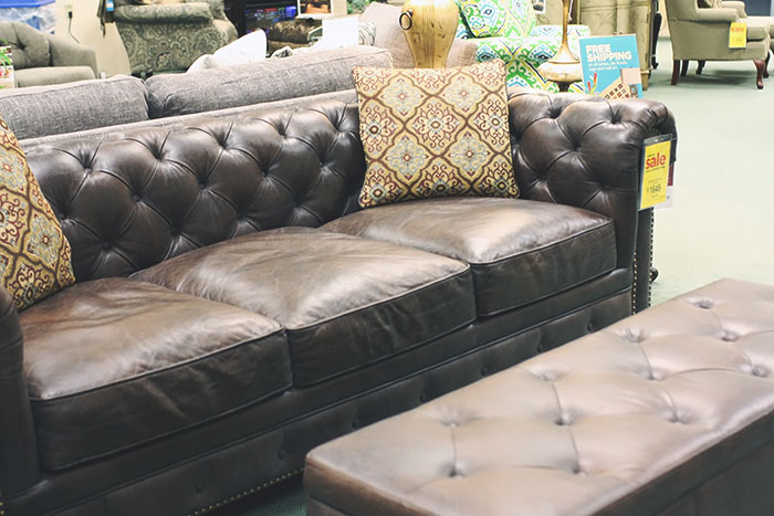Raymour And Flanigan Leather Sofa