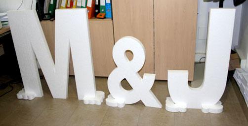 Imprenta grafidimar almer a novedad letras de poliespan - Decoracion de letras ...