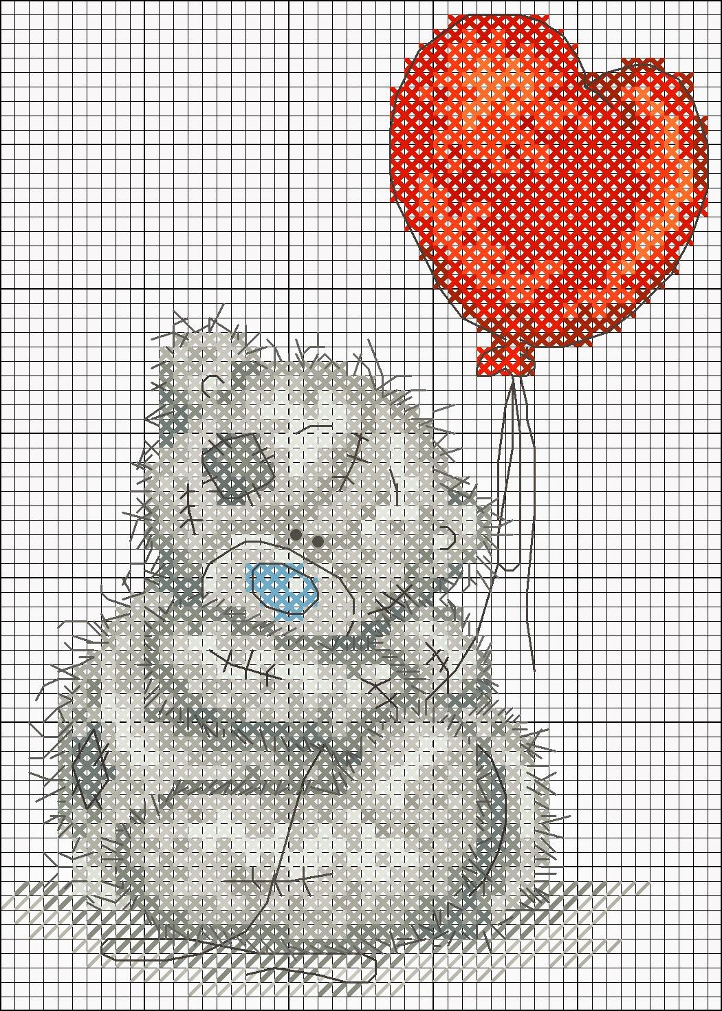 Schemi gratuiti per punto croce: Raccolta di teneri orsetti a punto croce