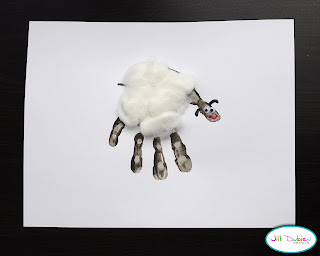 Handprint Sheep or Lamb Farm Animal Craft