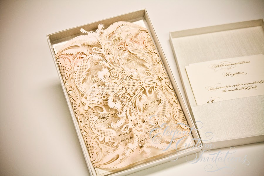 Wedding invitations houston elegant custom invitations for Laser cut wedding invitations houston
