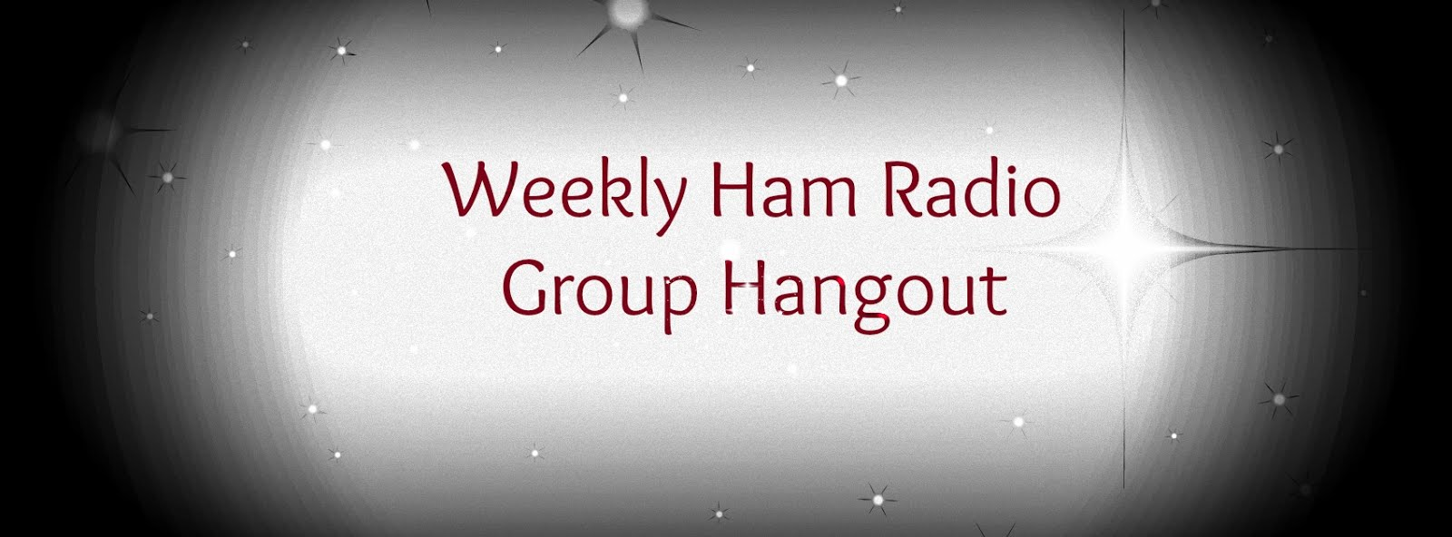 Weekly Ham Radio Hangout (All Welcome)