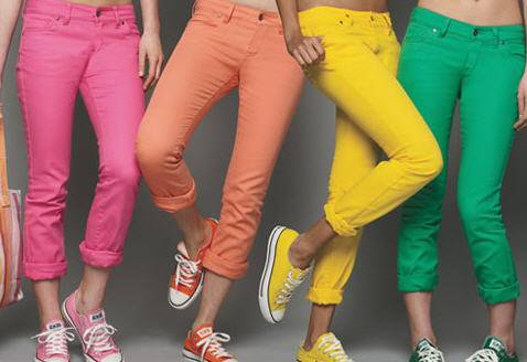 What's In And What's Not: Colorful Pants