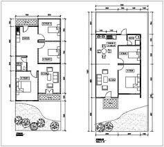 Denah rumah minimalis tipe 45