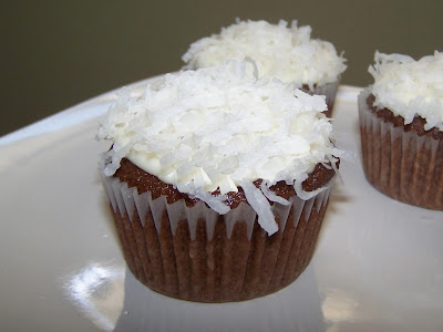 EZ Gluten Free: Gluten Free Chocolate Cupcakes with Coconut Icing