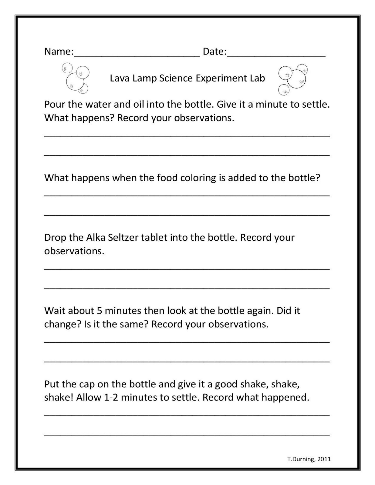 Science Experiment Worksheets Free Worksheets Library