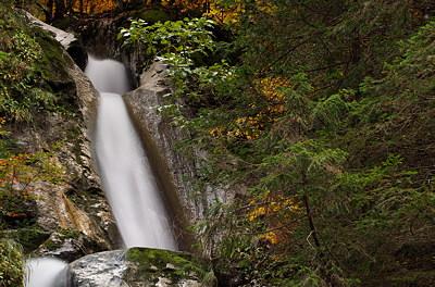 Diomaz waterfall, a closeup view